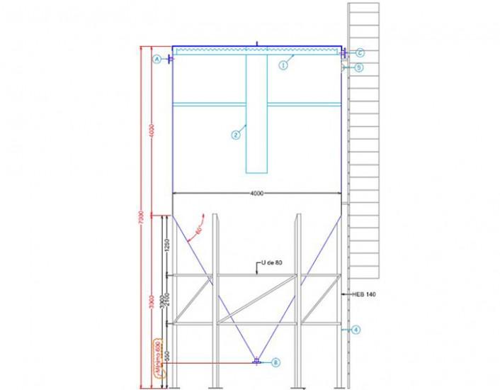 Tolva metálica Toledo 01 - Proyectos ACCE Ingeniería
