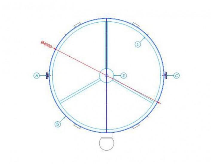 Tolva metálica Toledo 02 - Proyectos ACCE Ingeniería